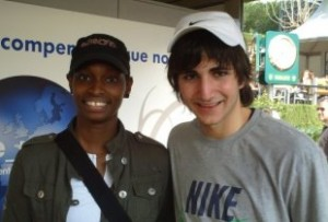 Me with Ricky Rubio at a Barcelona Tennis Tournament